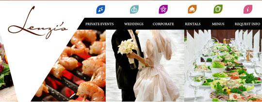 Lenzi's Catering Website