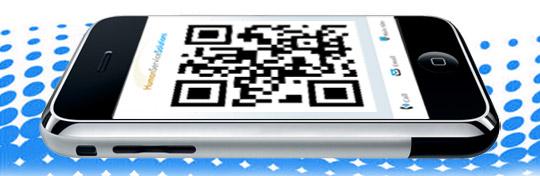 QR Code on Smartphone