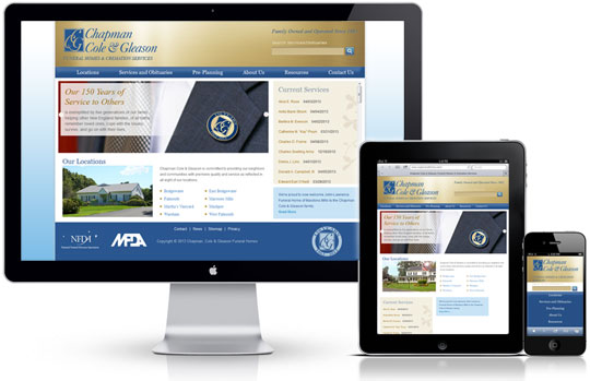 CCG Funeral Home Website   Responsive Design