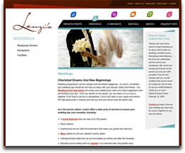 Catering Website Sample Page