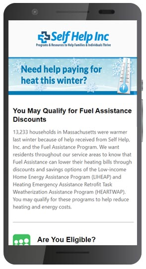 Fuel Assistance Email Marketing