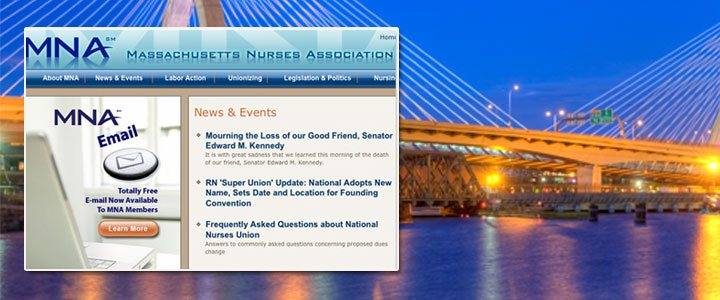 New MNA Website<br>Benefits Massachusetts Nurses
